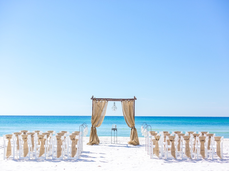 Destination beach wedding destin florida