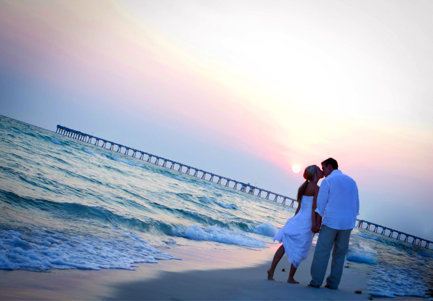 sunset beach wedding gin destin florida